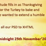 Thanksgiving 2011: Get 15% Discount on All Markup Services by PixelCrayons