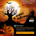This Halloween – 15% Off on PSD to HTML Conversion