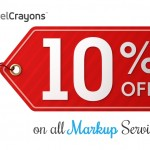 PixelCrayons May Special: Offering 10% Discount on all Markup Services