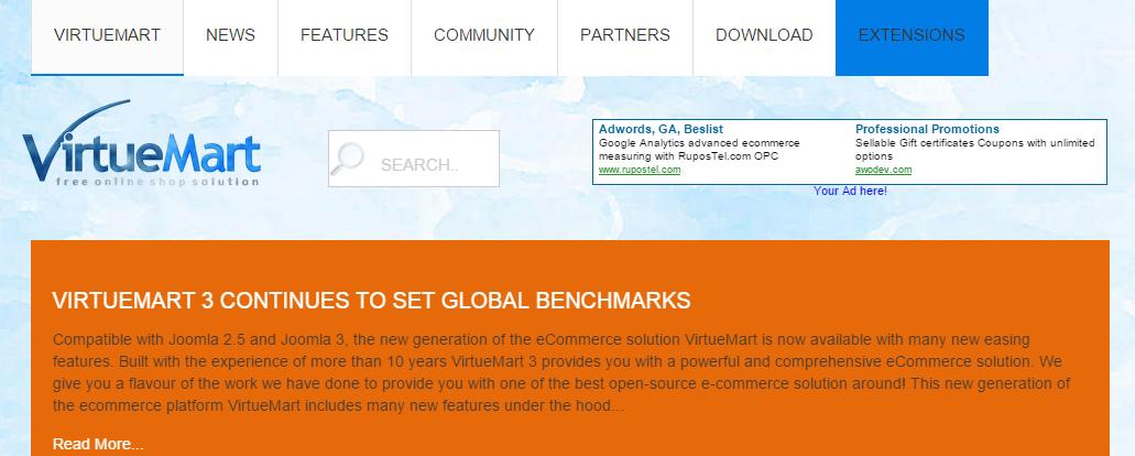 VirtueMart  Free e commerce solution