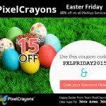 Celebrate Easter with PixelCrayons: Grab 15% Discount on All Markup Services