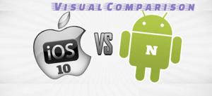 iOS 10 Vs Android N Visual Comparison