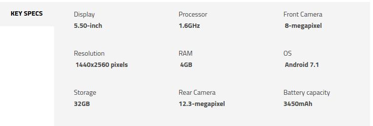 Google Pixel XL Specifications