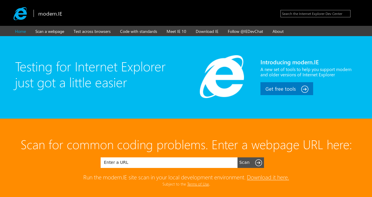 Features of Modern.IE Testing Tool: A new launch of Microsoft