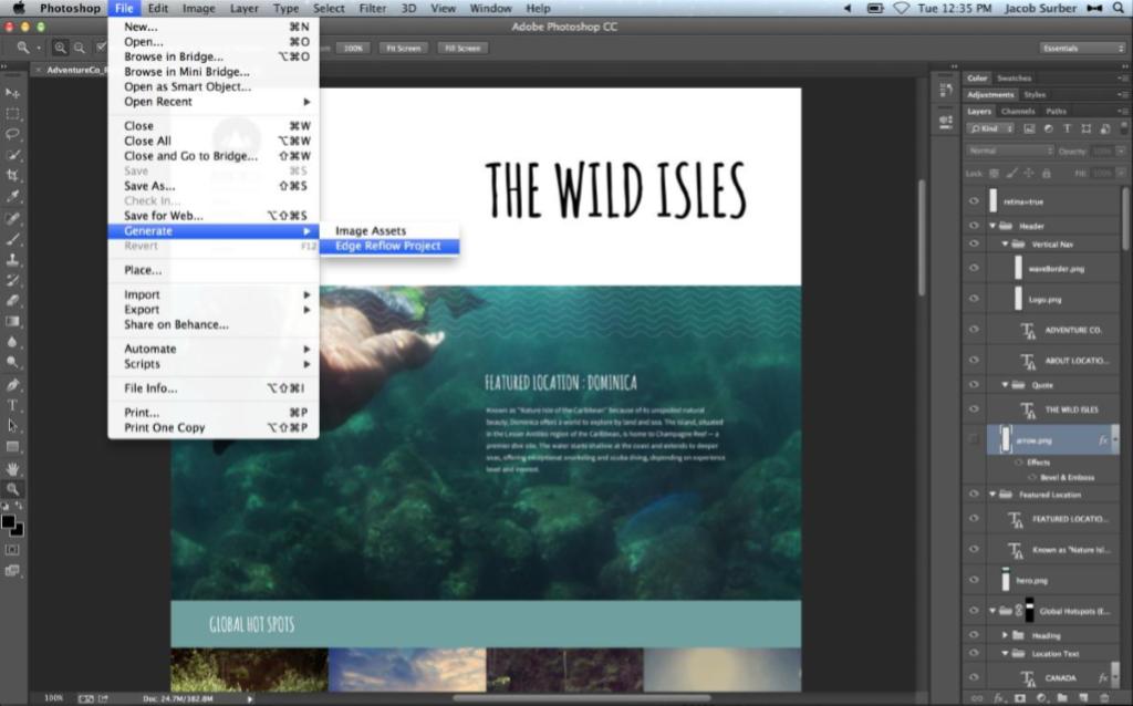 Adobe Generator – A Responsive Design Tool to Streamline Design and Development Tasks