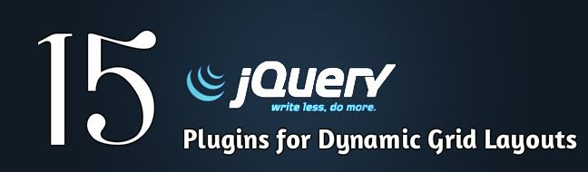 15 jQuery Plugins to Create Highly Functional Dynamic Grid Layouts