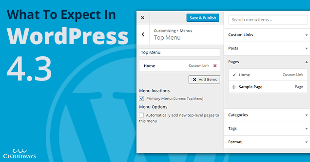 WordPress 4.3 Updates
