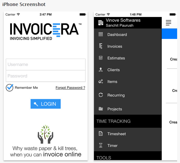 invoicera-app-screenshot