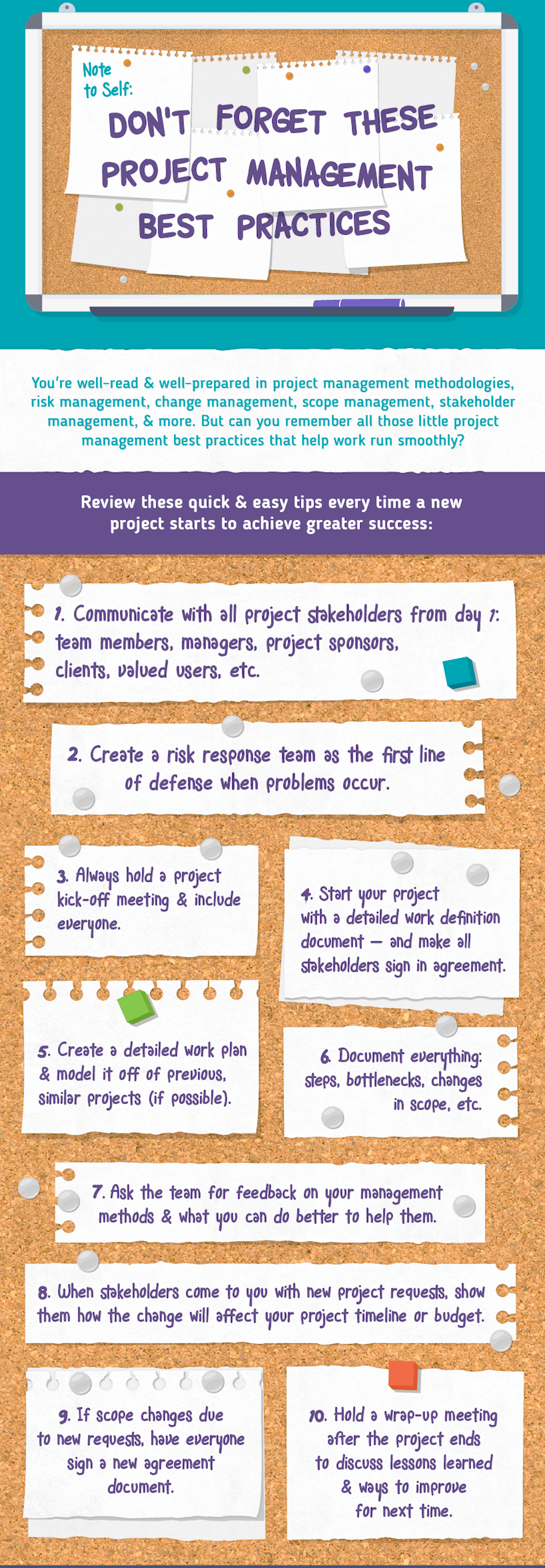 project management best practices infographic