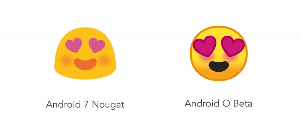android oreo 8.0 vs ios 11 emoji