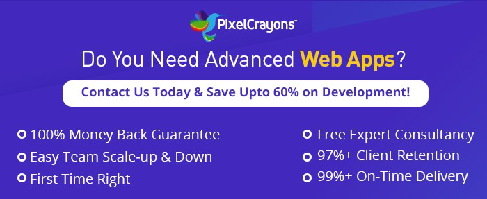 web app development @ PixelCrayons