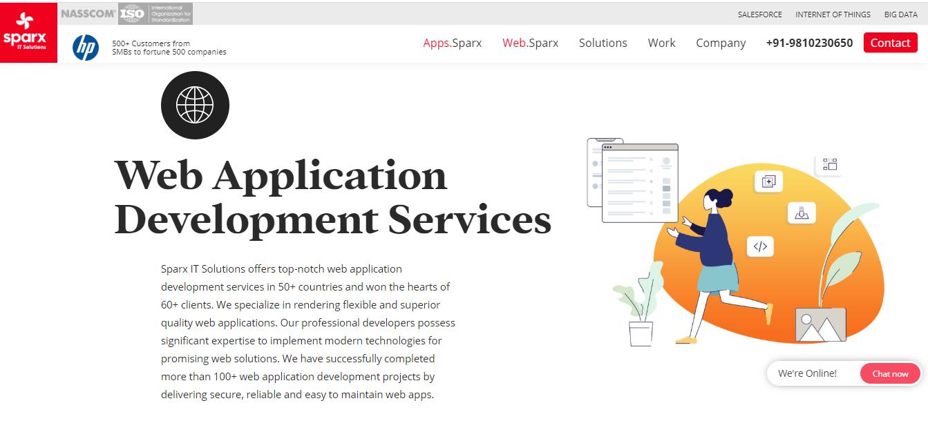 top web app development company