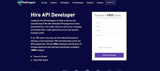offshore API app programmers