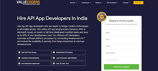 Hire API App Developers In India