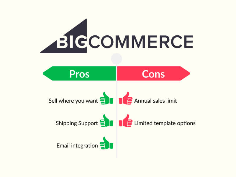 bigcommerce pros and cons